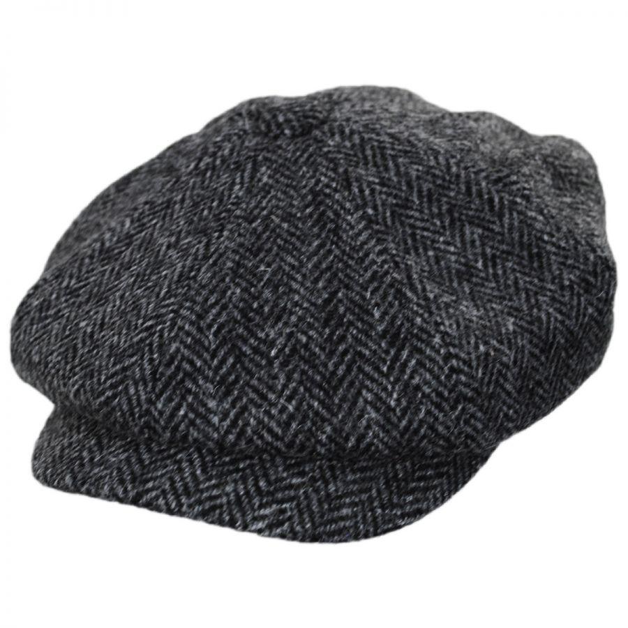 43387dd3d Failsworth Carloway Harris Tweed Wool Herringbone Newsboy Cap ...