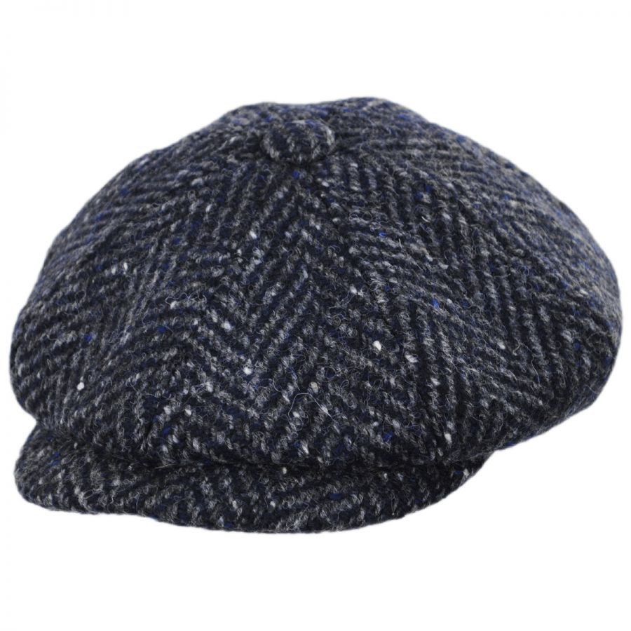Magee 1866 Donegal Tweed Mayo Charcoal Wool Newsboy Cap alternate view 1 00e92b1265