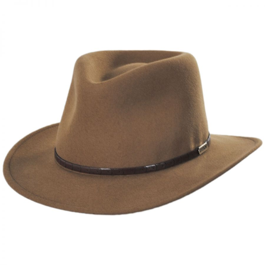 Stetson Pontiac Wool Crushable Fedora Hat View All 3775612a167