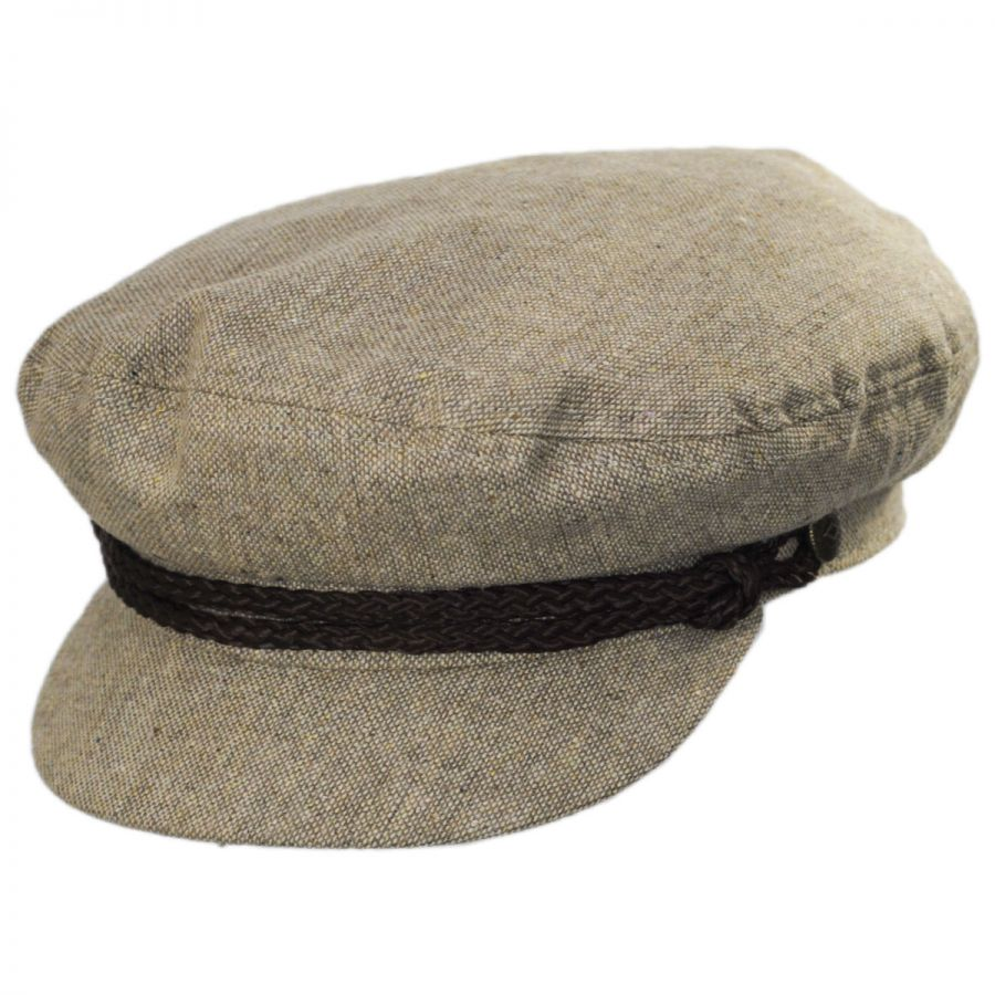 Brixton Hats Tweed Wool Blend Fiddler Cap Greek Fisherman Caps 024b8438c1c