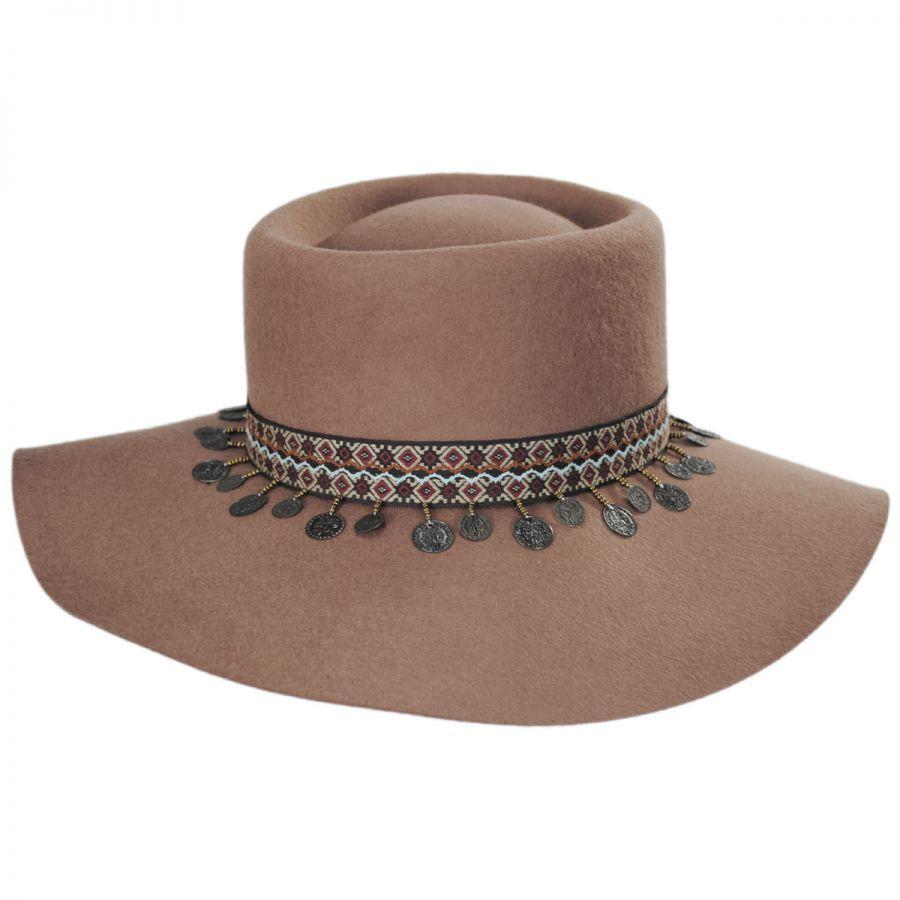 a3c93096e6839 Scala Planter Tassel Trim Wool Gambler Hat Casual Hats
