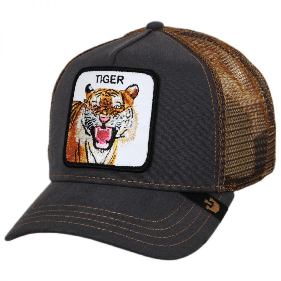 e34daa8fb82d7 Goorin Bros Tiger Trucker Snapback Baseball Cap Snapback Hats