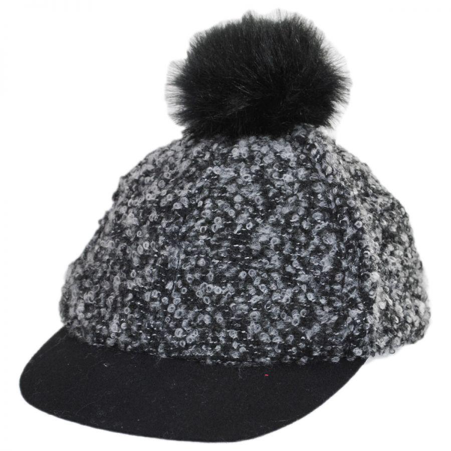 Scala Pom Top Baseball Cap Casual Hats 82670f602b6