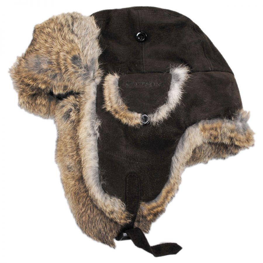 847f21549c45f Stetson Aviator Pig Suede Trapper Trapper Hats