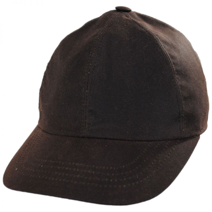 Stefeno George Waxed Earflap Cotton Fitted Baseball Cap