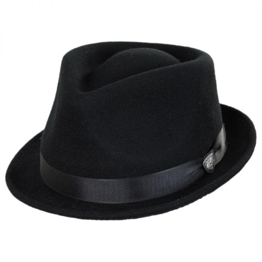 32d3bc61bec Dobbs Shorty Wool Felt Stingy Brim Fedora Hat All Fedoras