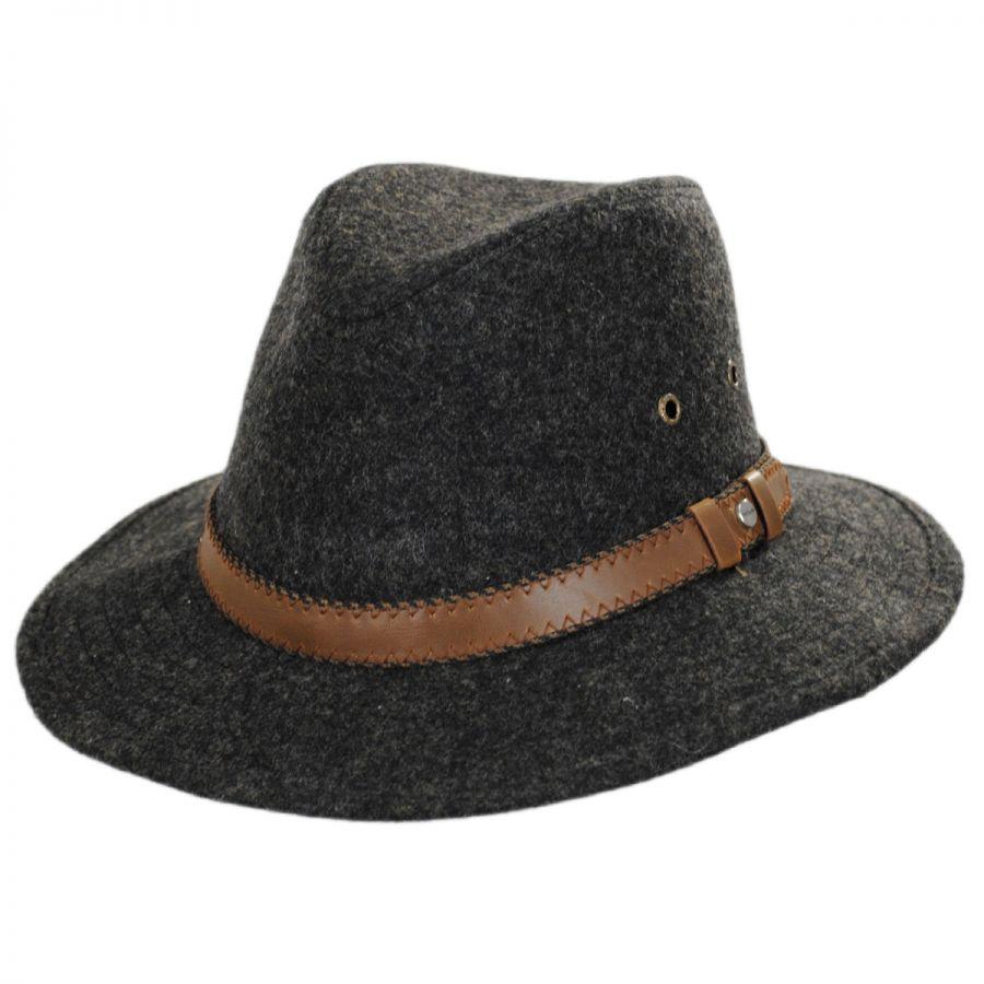 Safari Leather Band Wool Blend Western Hat alternate view 1 9cfa160aa22