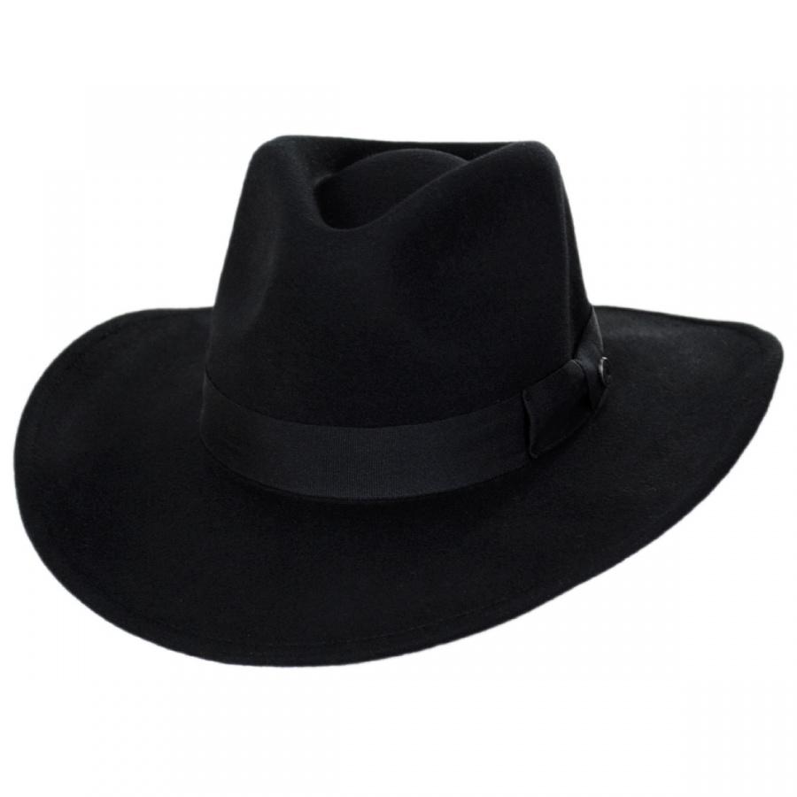 120f59562b0394 Jaxon Hats Colorado Ultra Wide Brim Crushable Wool Felt Fedora Hat ...