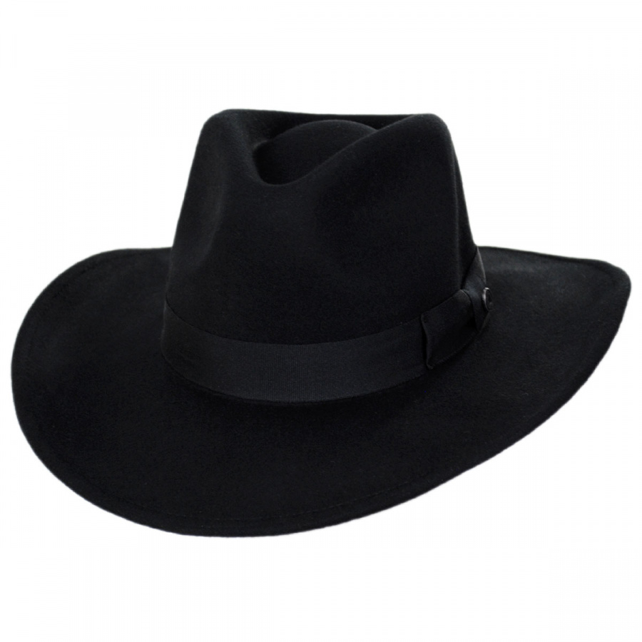 Jaxon Hats Colorado Ultra Wide Brim Crushable Wool Felt Fedora Hat ... ba93585b1ab