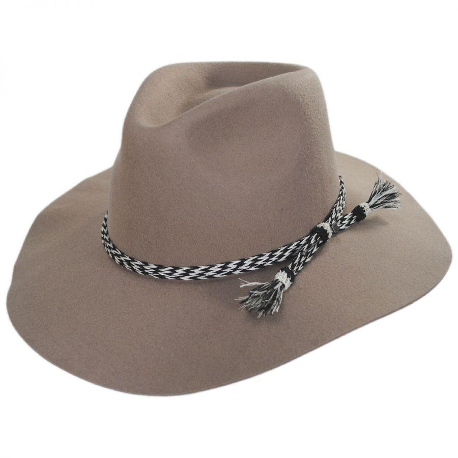 8d6476a2 Brixton Hats Leonard Wool Felt Wide Brim Fedora Hat Western Hats