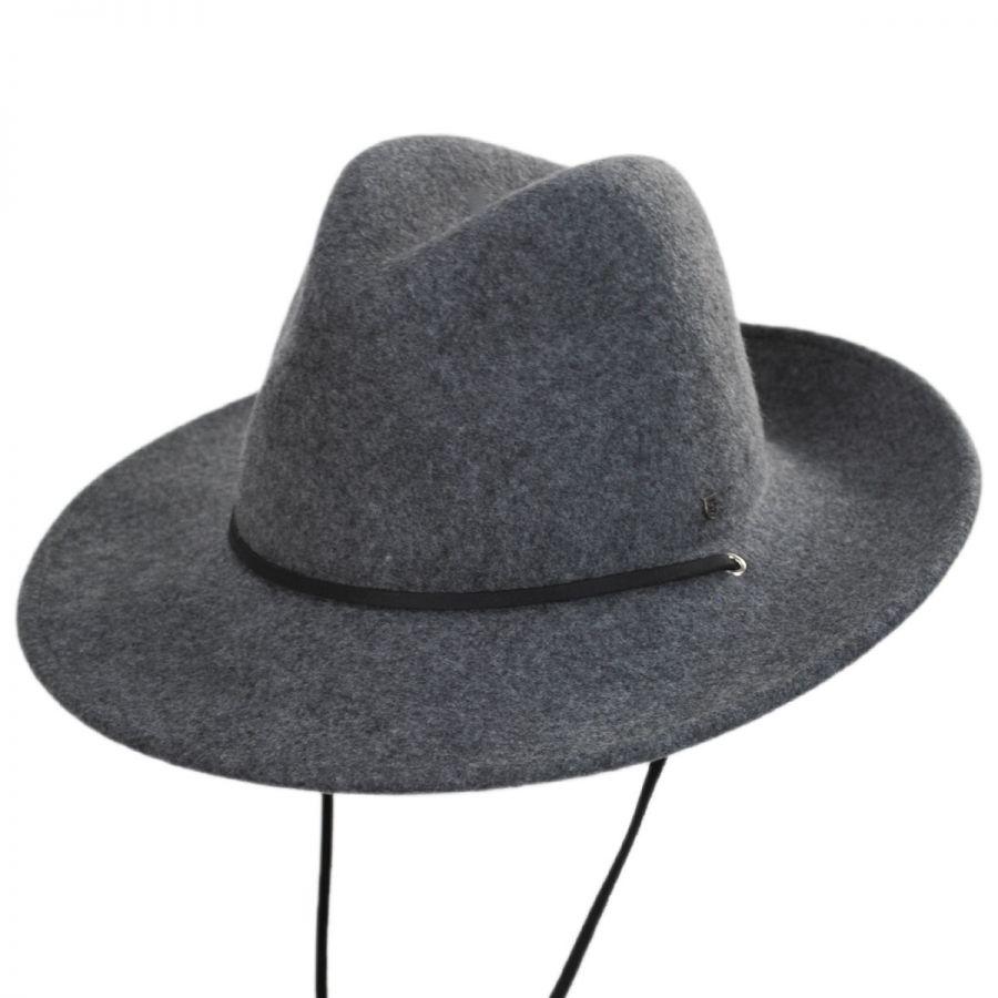 62945132cfc872 Brixton Hats Field Wool Felt Wide Brim Fedora Hat All Fedoras