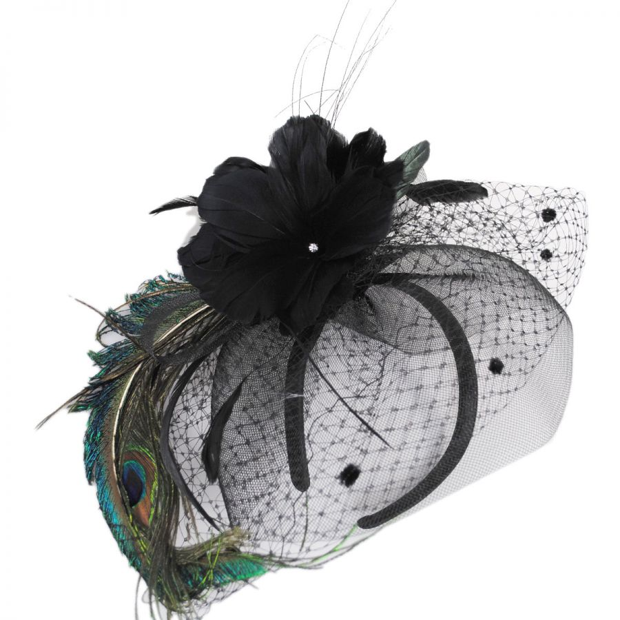 Toucan Collection Peacock Fascinator Fascinators   Headbands 613d8325115
