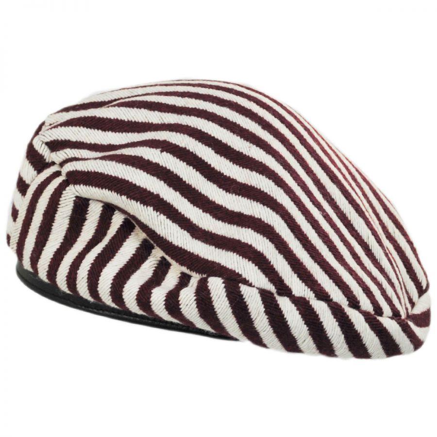 Brixton Hats Audrey II Striped Beret Berets 16bbc6f63b5
