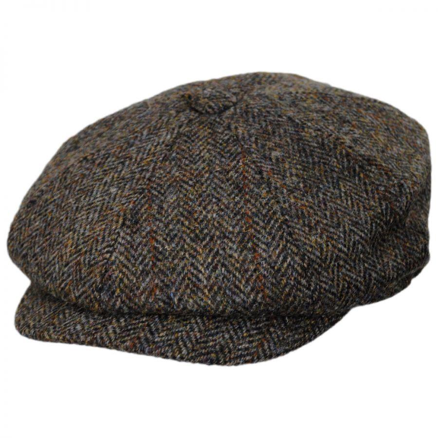 Jaxon & James Harris Tweed Northbay Wool Newsboy Cap