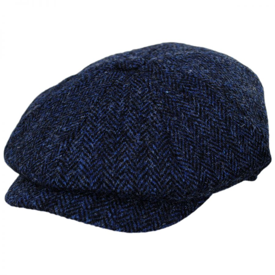 b3d1b5e320e Jaxon Hats Harris Tweed Skye Wool Newsboy Cap Newsboy Caps