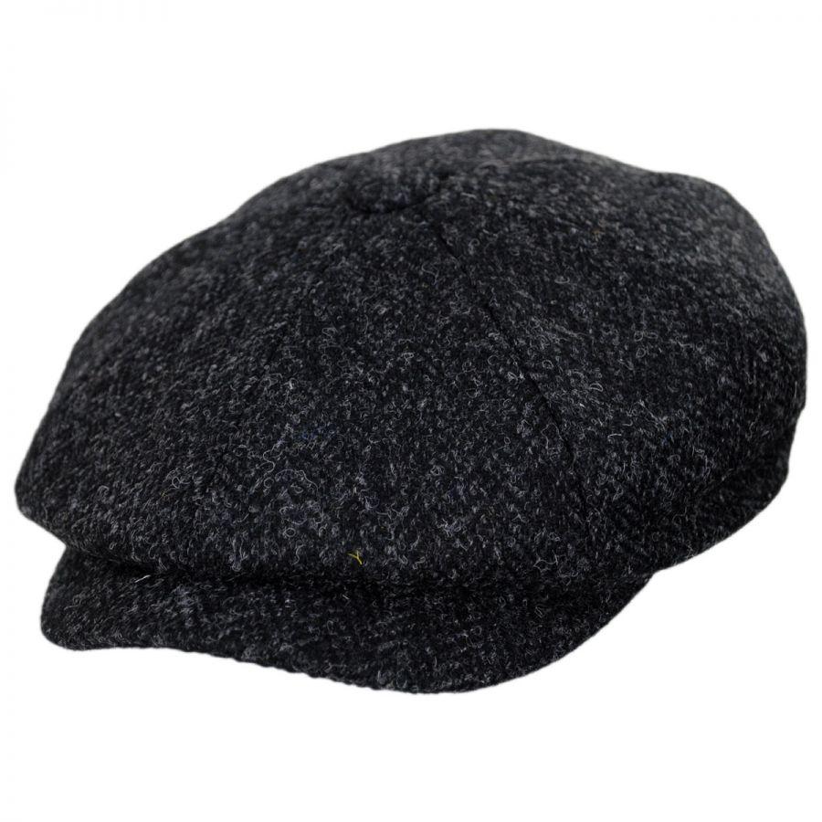 Jaxon Hats Harris Tweed Taransay Wool Newsboy Cap Newsboy Caps 453809d4aab