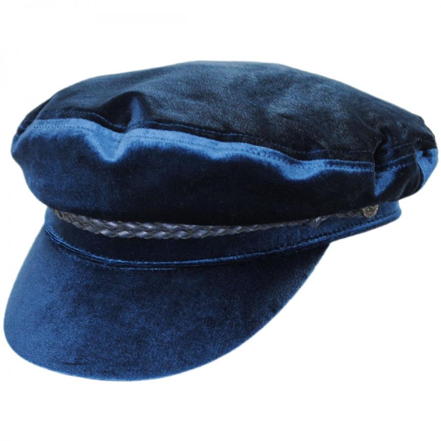 31f25eb4de01c Brixton Hats Ashland Velour Fiddler Cap Greek Fisherman Caps