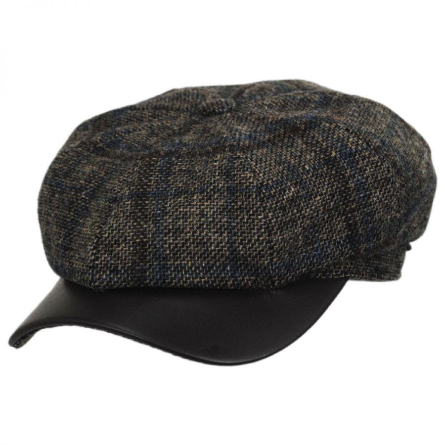 Wigens Caps Vintage Shetland Wool Check Newsboy Cap Newsboy Caps 297c7cdb2bcc