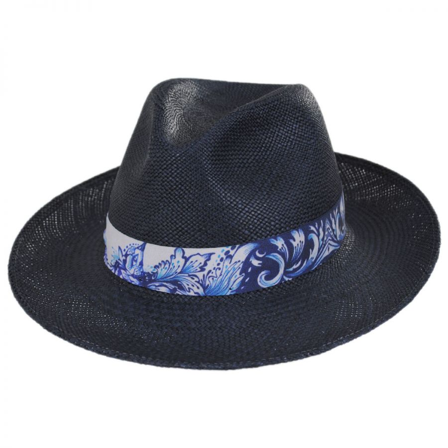 ... so cheap Bigalli Azul Grade 3 Panama Straw Fedora Hat Panama Hats 7b5a5  157d8 ... 0e0d467f0dc