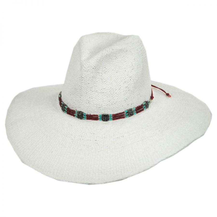 fa4c4c28870b6 Larimar Toyo Straw Wide Brim Fedora Hat alternate view 1. ale by Alessandra