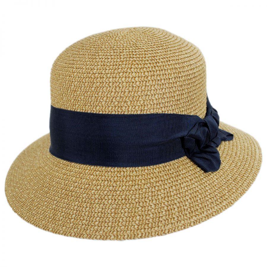 0628890f1366e Physician Endorsed Spectator Toyo Straw Blend Cloche Hat Cloche ...