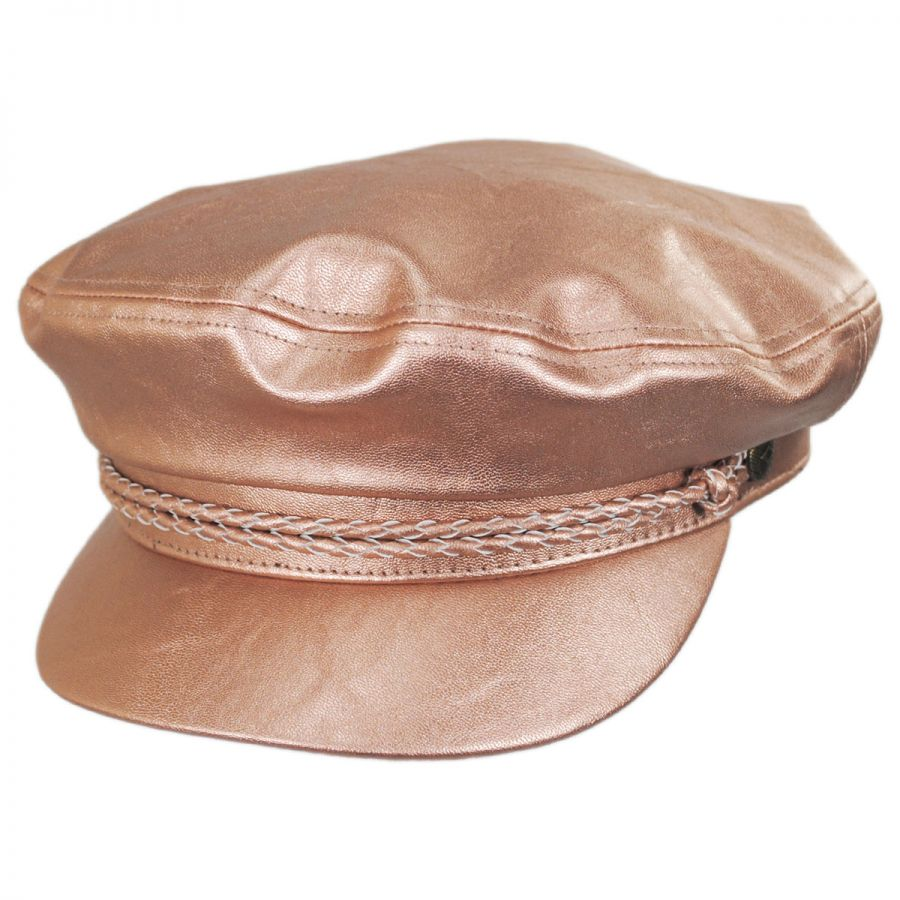 da1949c0d56c1 Brixton Hats Vegan Leather Fiddler Cap Greek Fisherman Caps