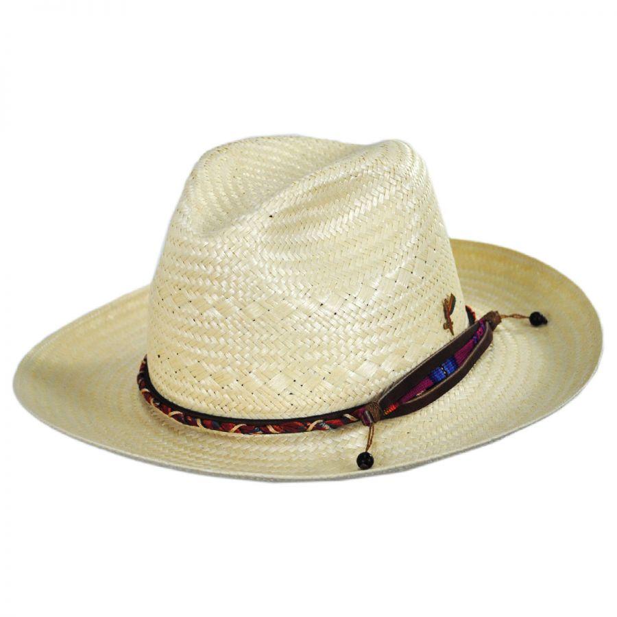 1064900e72b02 Carlos Santana Cingaro Glazed Toyo Straw Fedora Hat Straw Fedoras