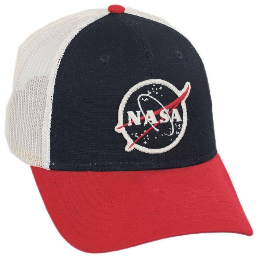 4acb7f76cf1 American Needle Roughage NASA Mesh Trucker Snapback Baseball Cap ...
