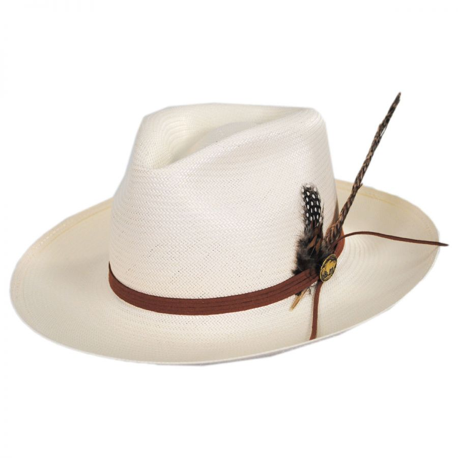 Stetson Tallahassee Shantung Straw Fedora Hat Straw Hats 0568d08d8ba