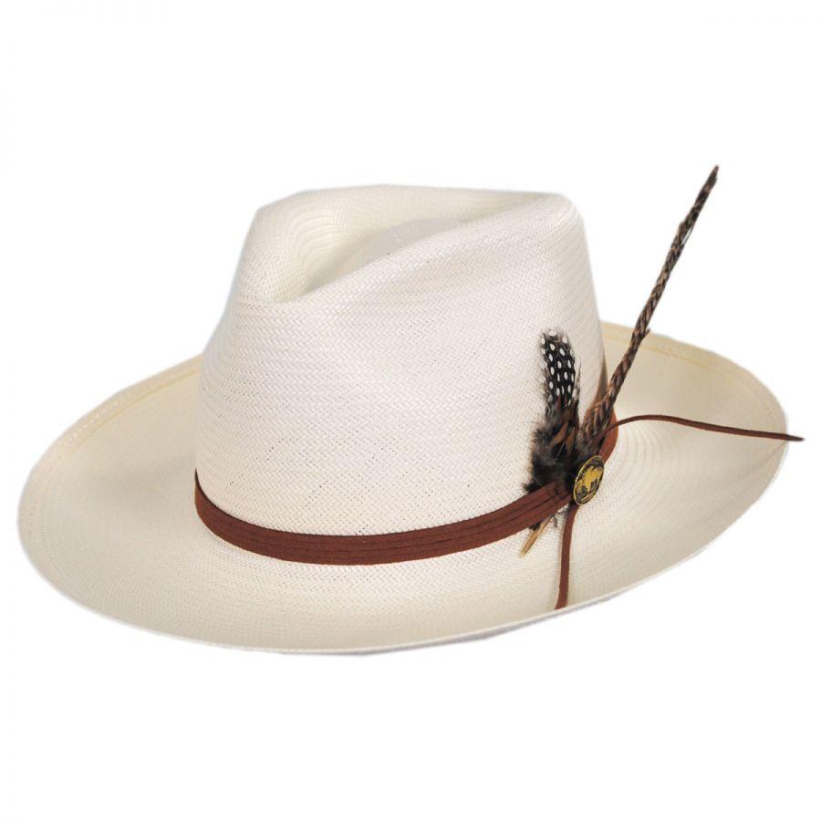 Stetson Tallahassee Shantung Straw Fedora Hat Straw Hats c09940f3eda