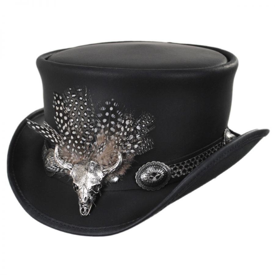 Head  N Home True Grit Leather Top Hat Top Hats 7aec7458cc9