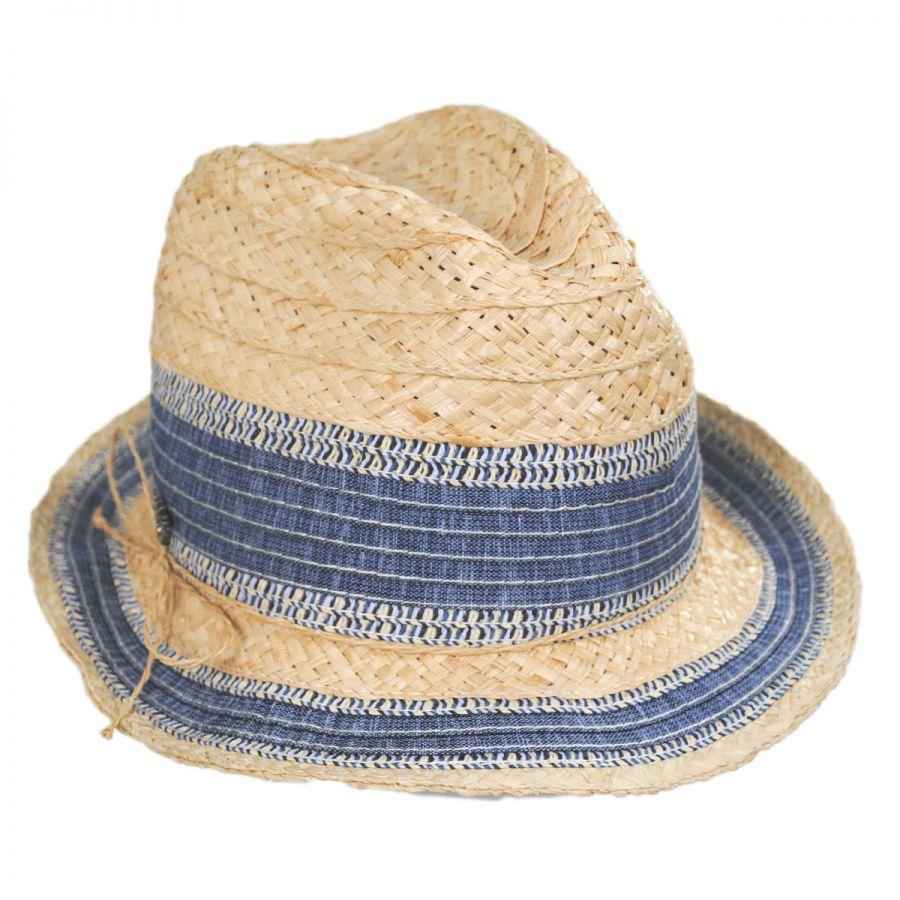 Tommy Bahama Monte Carlo Raffia Straw Blend Fedora Hat Straw Fedoras 7c14148e46d