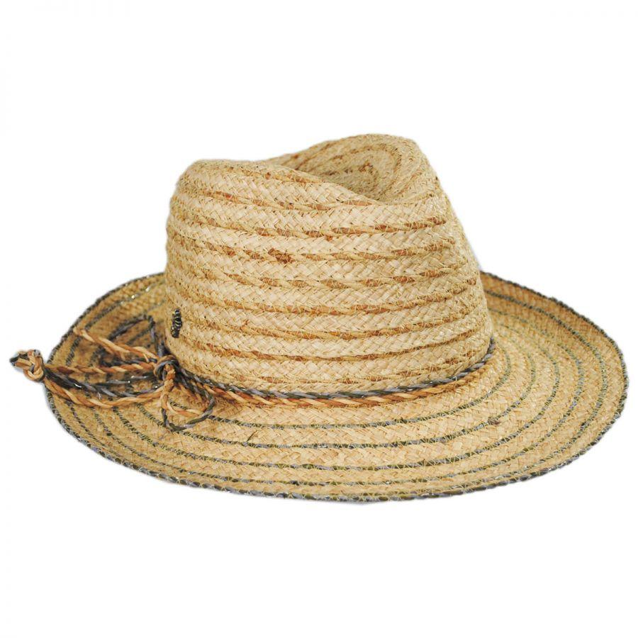 Tommy Bahama Seagrass Raffia Straw Blend Fedora Hat Straw Fedoras 243aa84d974