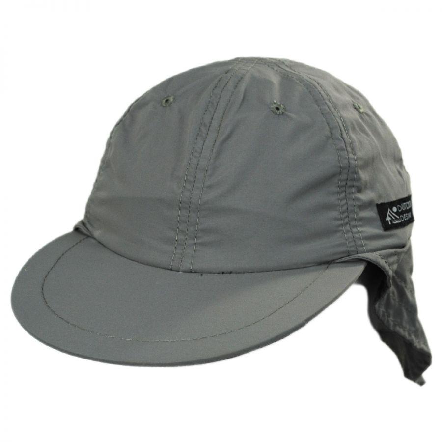 5c59d28321e7c Dorfman Pacific Company Excavator Nylon Fishing Flap Cap All ...