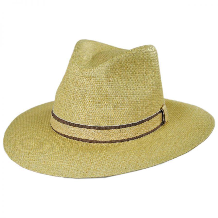 dc7bb011f Dorfman Pacific Company Climber Toyo Straw Safari Fedora Hat Straw ...