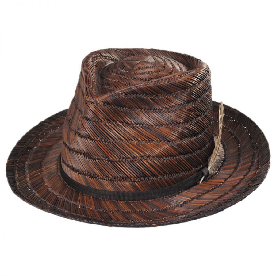 7d5fd3e281daa Brixton Hats Crosby Straw Fedora Hat Straw Fedoras