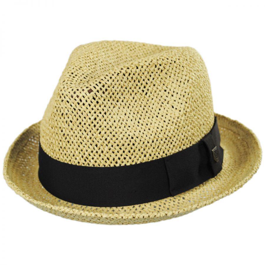 33f2c396bb1 Brixton Hats Castor Open Weave Toyo Straw Fedora Hat Straw Fedoras