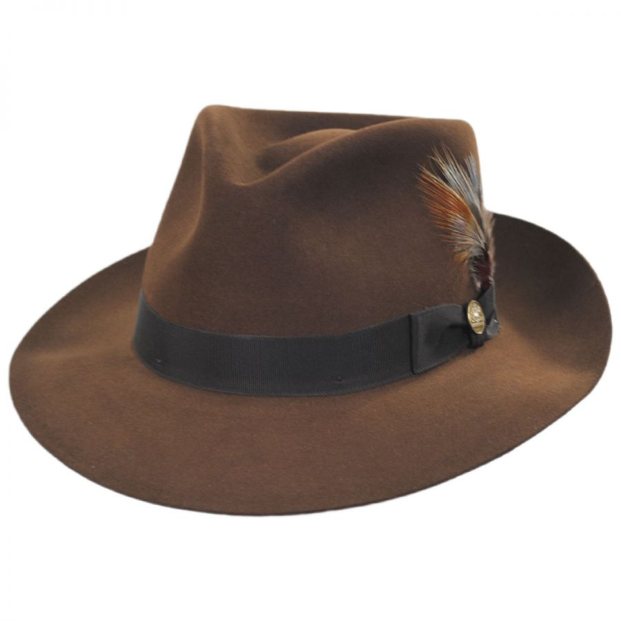 Chatham Fur Felt Fedora Hat All Fedoras 9f59ebe68a4