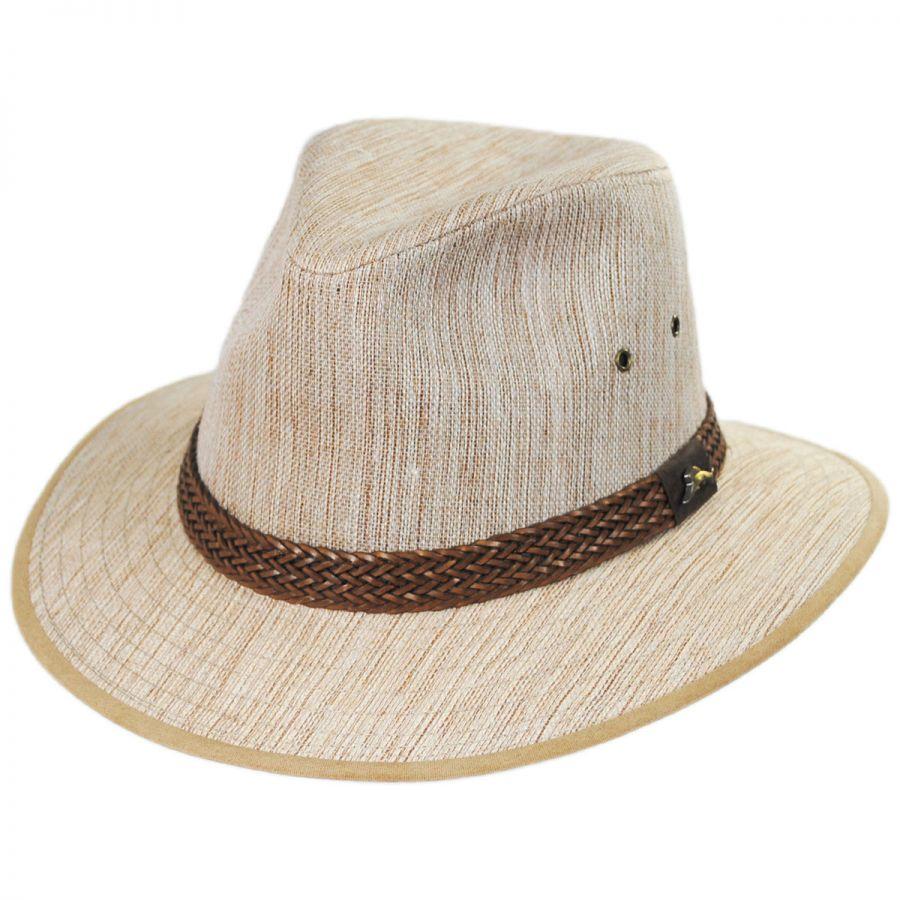 bb13339f Tommy Bahama Caribbean Linen Fedora Hat All Fedoras