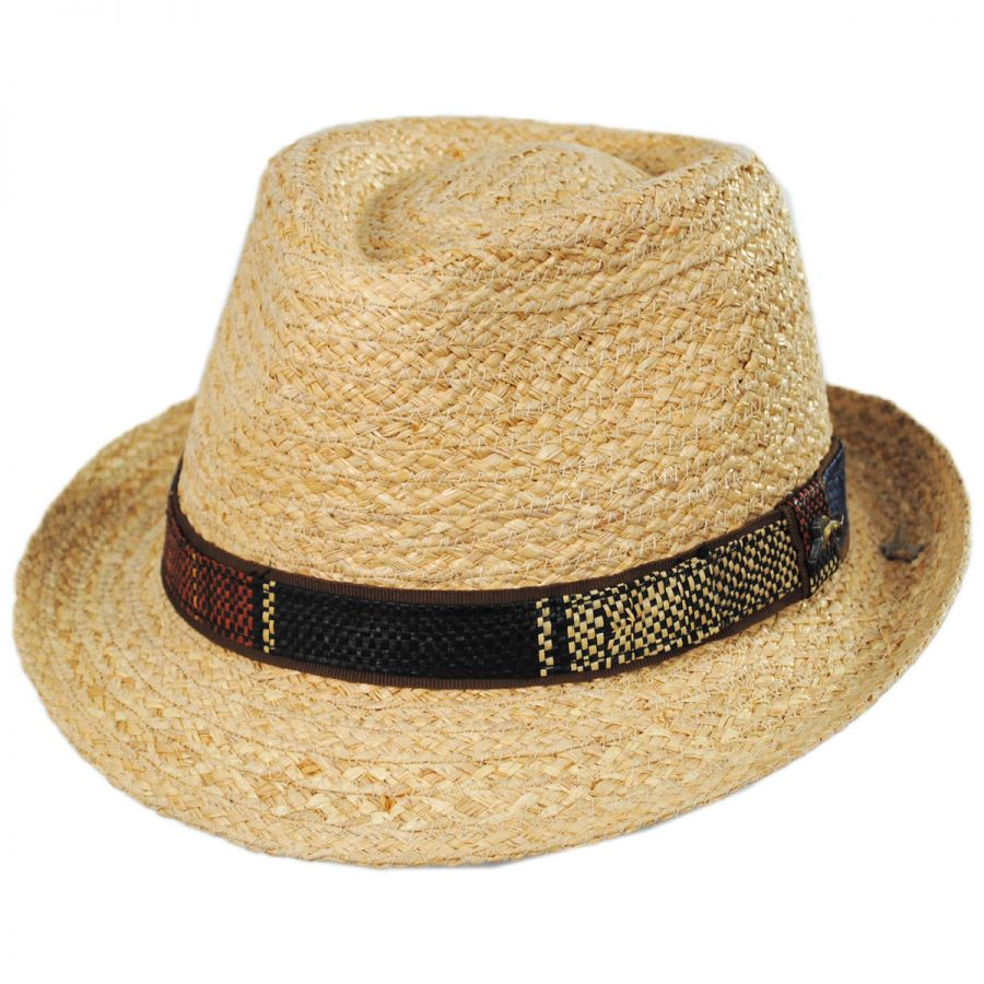 Tommy Bahama Mojito Raffia Straw Fedora Hat Straw Fedoras 333c48497a4