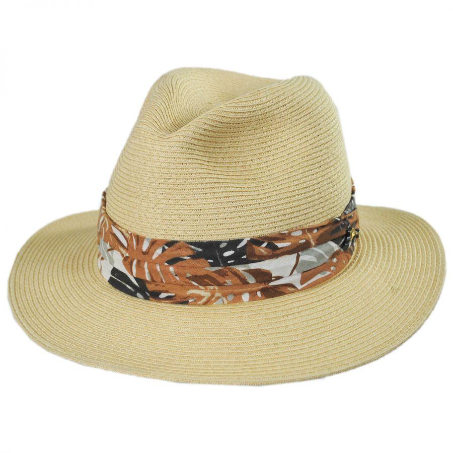 Tommy Bahama Ko Lipe Toyo Straw Fedora Hat Straw Fedoras abf44ee2a0b