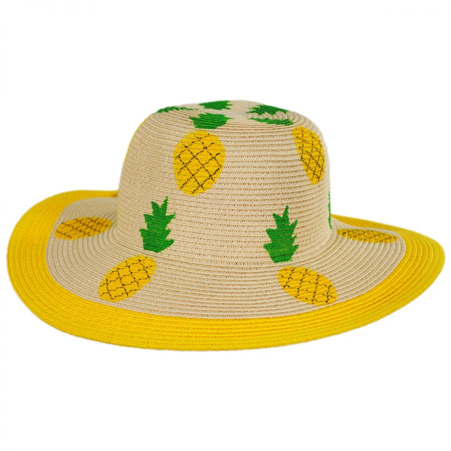 San Diego Hat Company Summer Fruit Kids Toyo Straw Blend Sun Hat ... 3e9187433e3