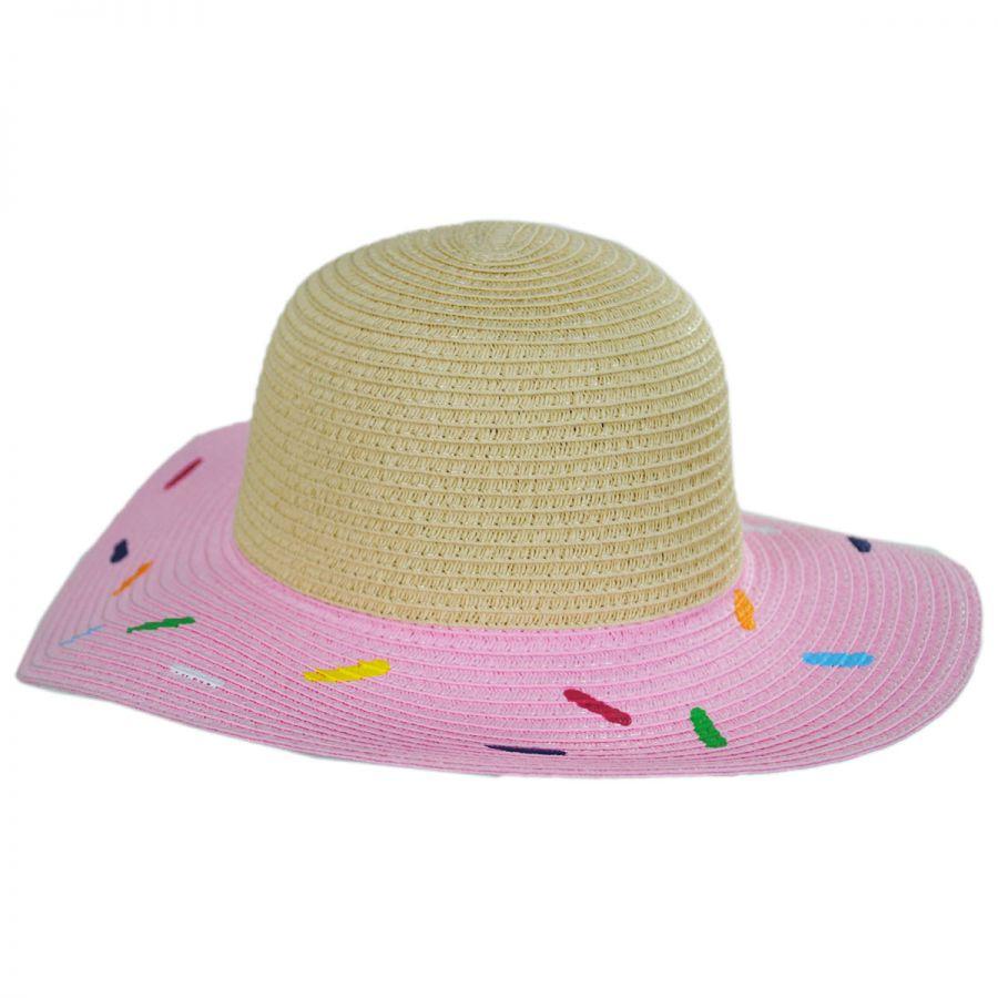 San Diego Hat Company Kids Sprinkle Donut Toyo Straw Sun Hat View All c85b62f1b8b