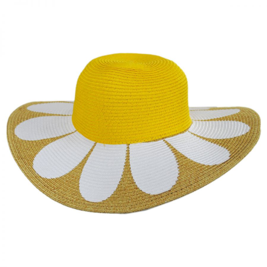 San Diego Hat Company Kids Daisy Toyo Straw Blend Sun Hat View All cdaf727c0f0