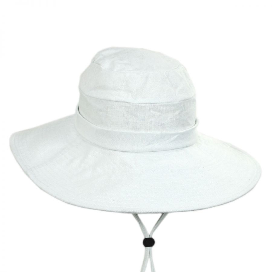 8b59362705de8f Pier Cotton and Linen Sun Hat alternate view 5. Tropical Trends