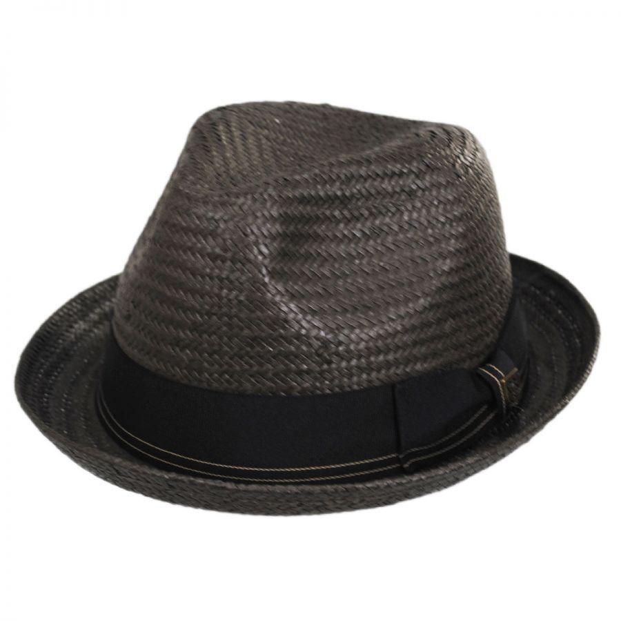6aa3cc65 Brixton Hats Castor Toyo Straw Fedora Hat Straw Fedoras