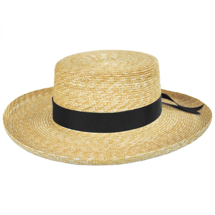 d9a4e2fe3718d Lack of Color Violette Wheat Straw Boater Hat Straw Hats