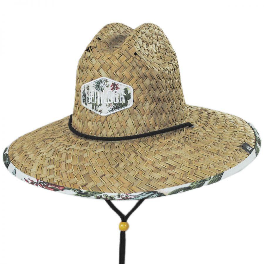 bc8023726 Hemlock Hat Co Cacti Straw Lifeguard Hat Straw Hats