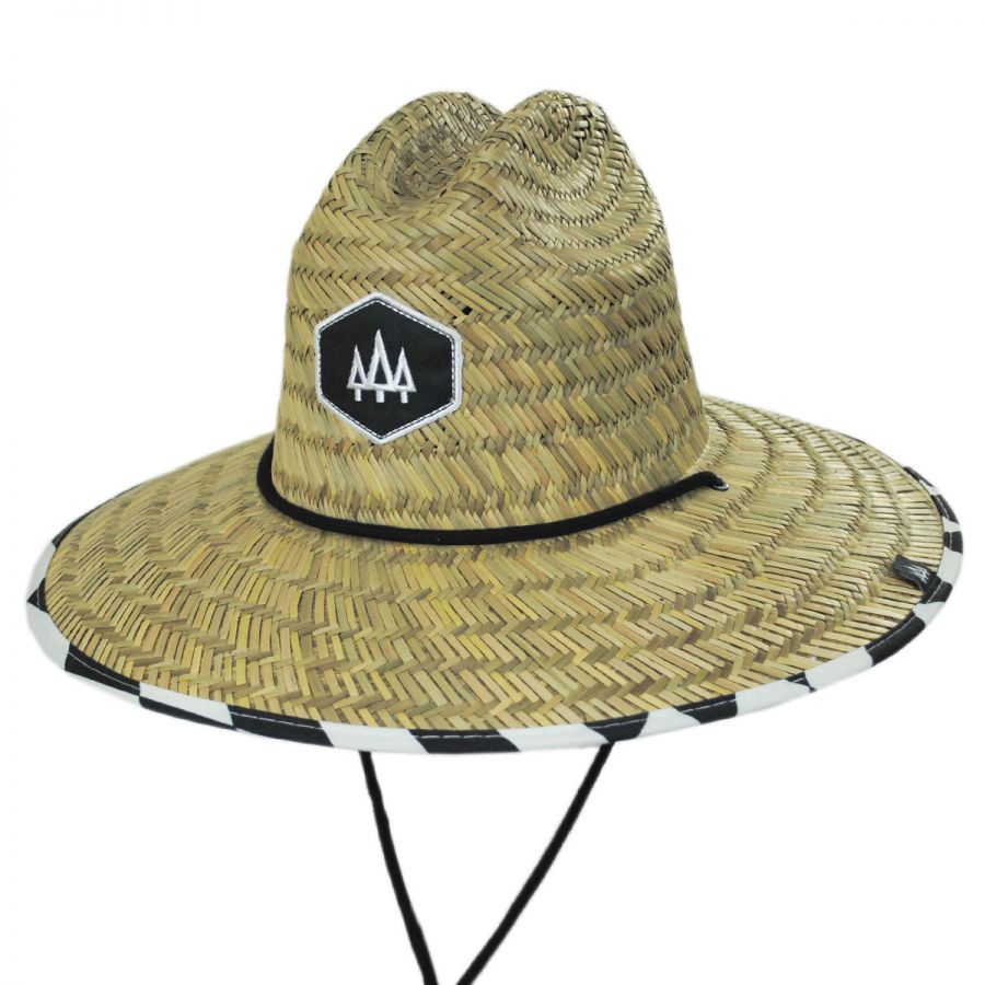 549c0876f5d4f Hemlock Hat Co Checker Straw Lifeguard Hat Straw Hats