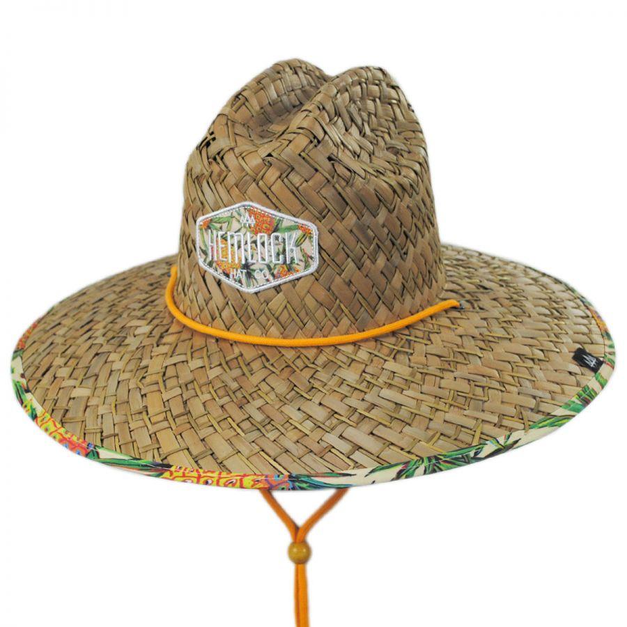 d8b1d649 Hemlock Hat Co Pineapple Straw Lifeguard Hat Straw Hats